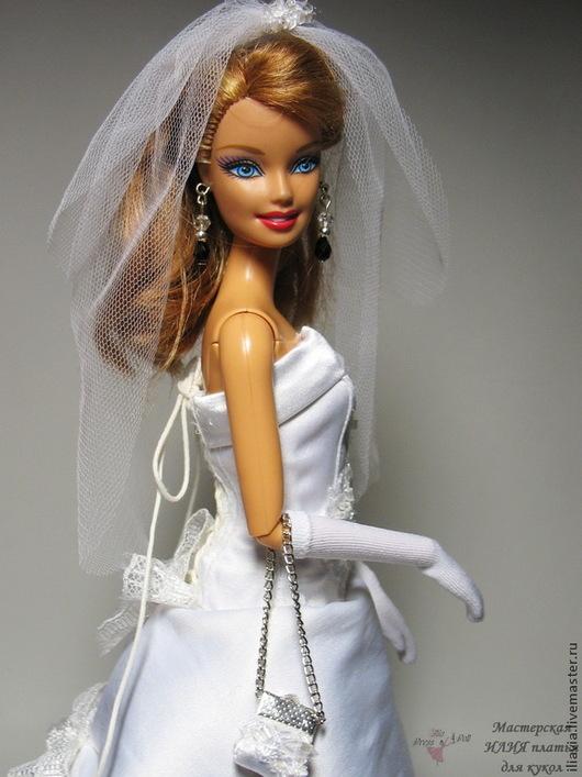 """Одежда для кукол ручной работы. Ярмарка Мастеров - ручная работа. Купить свадебное платье """"Блеск"""". Handmade. Свадебное платье, фатин"""