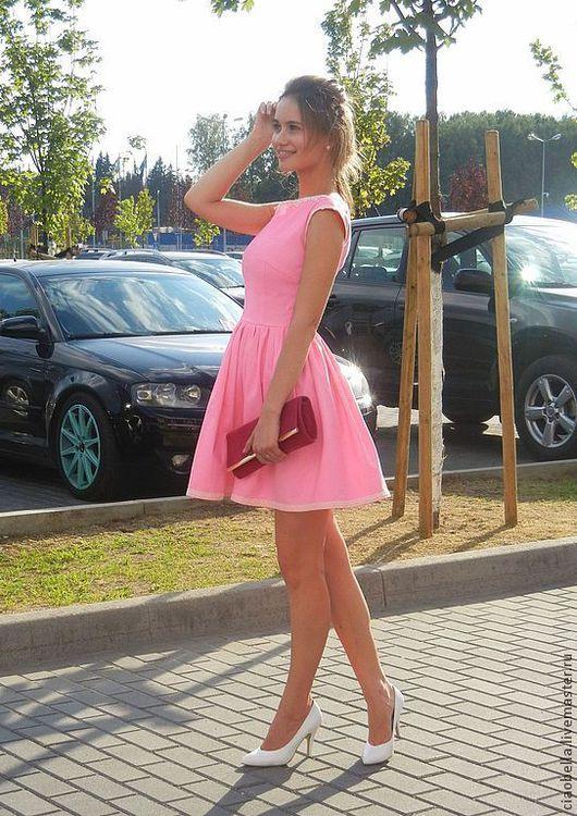 """Платья ручной работы. Ярмарка Мастеров - ручная работа. Купить Платье """"Mary"""". Handmade. Розовый, пышная юбка, джинса"""