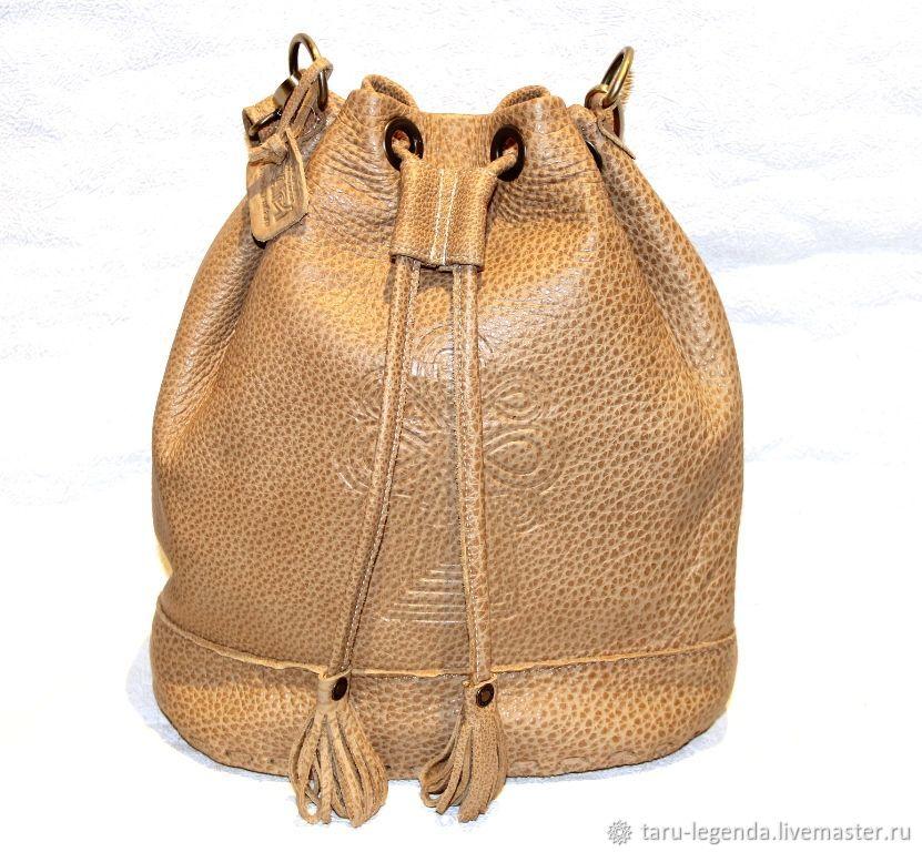 Сумка-торба кожаная песочная, Сумка-торба, Петрозаводск,  Фото №1