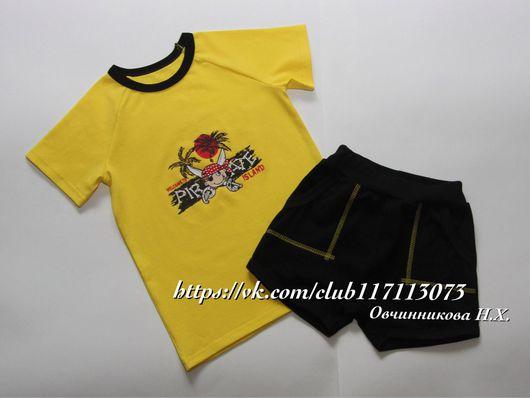 Одежда для мальчиков, ручной работы. Ярмарка Мастеров - ручная работа. Купить Футболка и шорты детские. Handmade. Футболка с рисунком, футболка