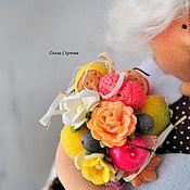Куклы и игрушки ручной работы. Ярмарка Мастеров - ручная работа Толстушка и вкусный букет.. Handmade.