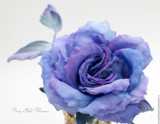 """Броши ручной работы. Ярмарка Мастеров - ручная работа. Купить Шелковый цветок """"Роза Ари Эль"""". Брошь.. Handmade. Комбинированный"""