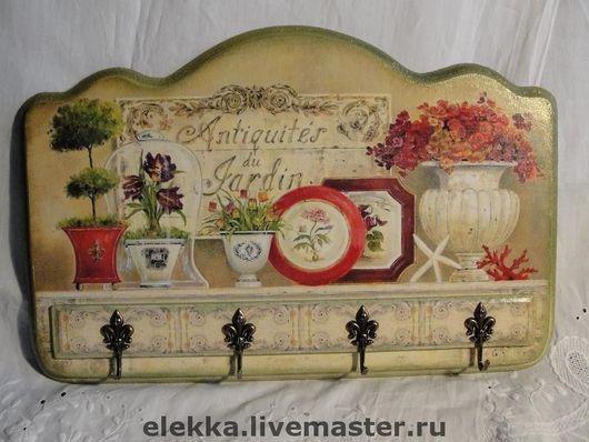 """Прихожая ручной работы. Ярмарка Мастеров - ручная работа. Купить Ключница """"Цветы Парижа 2"""". Handmade. Ключница, прованс"""