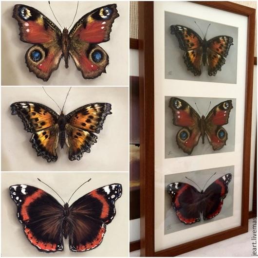 Бабочки. Пастель