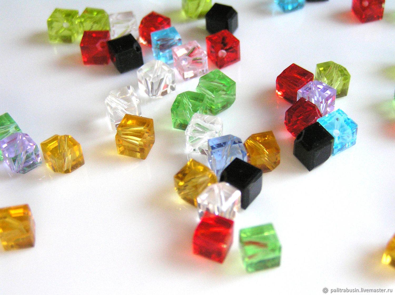Lampwork glass cube of 5 mm Czech Republic, Beads1, Tyumen,  Фото №1