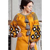 Одежда handmade. Livemaster - original item Women`s dress with long sleeve. Embroidery Embroidered Boho dress (109). Handmade.