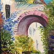 Картины и панно ручной работы. Ярмарка Мастеров - ручная работа Цветочная арка , размер 20/30. Handmade.