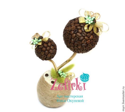 Топиарии ручной работы. Ярмарка Мастеров - ручная работа. Купить Кофейное дерево  подарок для любителей кофе  топиарий. Handmade. Кофе