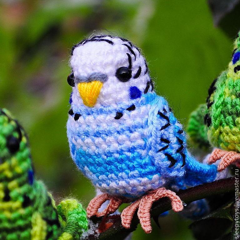 Попугай корелла амигуруми