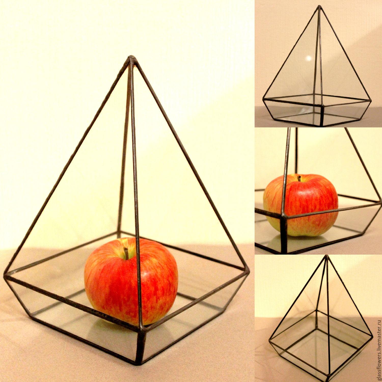Флорариум. Интерьерный флорариум для растений. Мини-сад. Пирамида