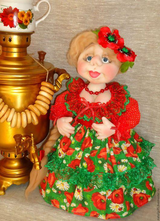 Кухня ручной работы. Ярмарка Мастеров - ручная работа. Купить Кукла на чайник. Handmade. Кукла на чайник, кукла народная, пряжа