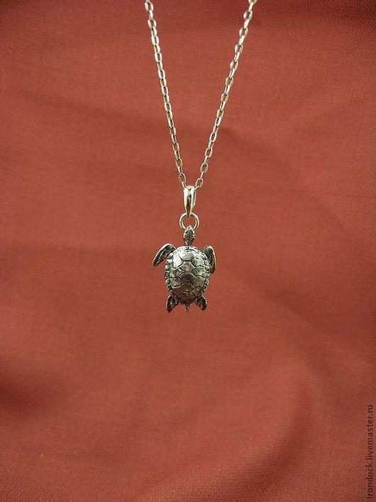 """Кулоны, подвески ручной работы. Ярмарка Мастеров - ручная работа. Купить кулон """"Морская черепаха"""". Handmade. Серебряный, серебряная подвеска"""
