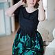 Платья ручной работы. Ярмарка Мастеров - ручная работа. Купить Черное платье с купоном на заках. Handmade. Черный, модное платье