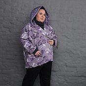 Одежда ручной работы. Ярмарка Мастеров - ручная работа Летняя куртка-косуха утепленная жаккард с капюшоном из плащевки. Handmade.