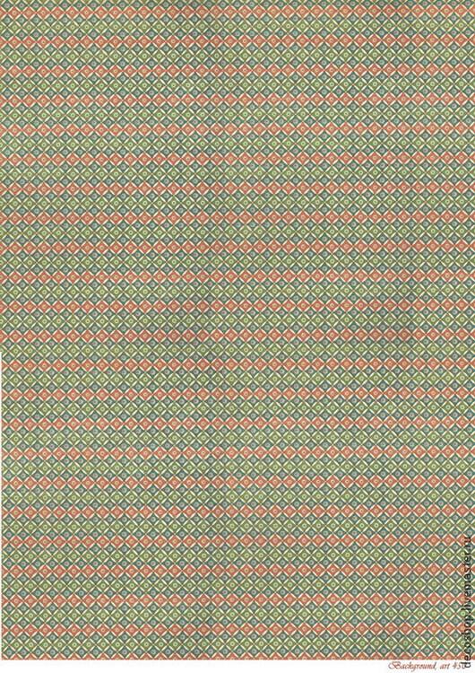 """Декупаж и роспись ручной работы. Ярмарка Мастеров - ручная работа. Купить арт. 450 """"мелкие ромбики"""", рисовая бумага для декупажа. Handmade."""