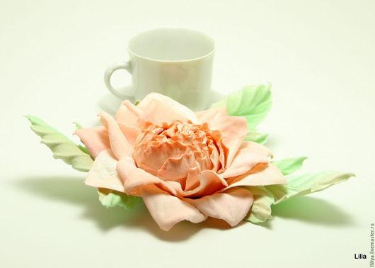 Цветы ручной работы. Ярмарка Мастеров - ручная работа. Купить Цветы из ткани. Роза. Handmade. Бледно-розовый, handmade, бархат