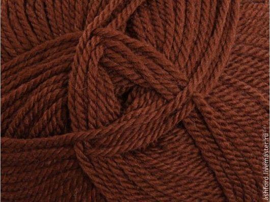 """Вязание ручной работы. Ярмарка Мастеров - ручная работа. Купить пряжа для вязания шерсть """"Капучино"""", 100 g. Handmade. Коричневый"""