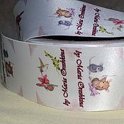 Материалы для творчества handmade. Livemaster - original item Ribbon with color printing logo. Handmade.