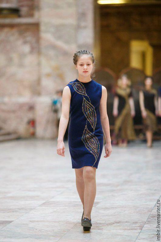 Платья ручной работы. Ярмарка Мастеров - ручная работа. Купить Платье Артефакт 7. Handmade. Тёмно-синий, дизайнерское платье