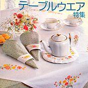 Материалы для творчества ручной работы. Ярмарка Мастеров - ручная работа Япония вышивка скатерти. Handmade.