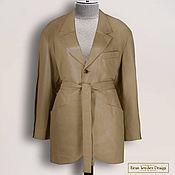 Одежда handmade. Livemaster - original item Jacket with a belt
