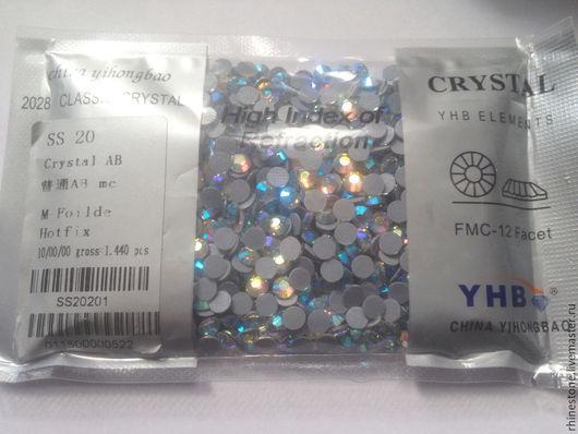 Для украшений ручной работы. Ярмарка Мастеров - ручная работа. Купить YHB стразы горячей фиксации размер ss20, цвет crystal AB. Handmade.