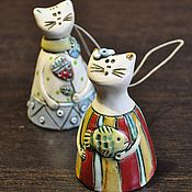 Сувениры и подарки ручной работы. Ярмарка Мастеров - ручная работа Колокольчики-котики. Handmade.