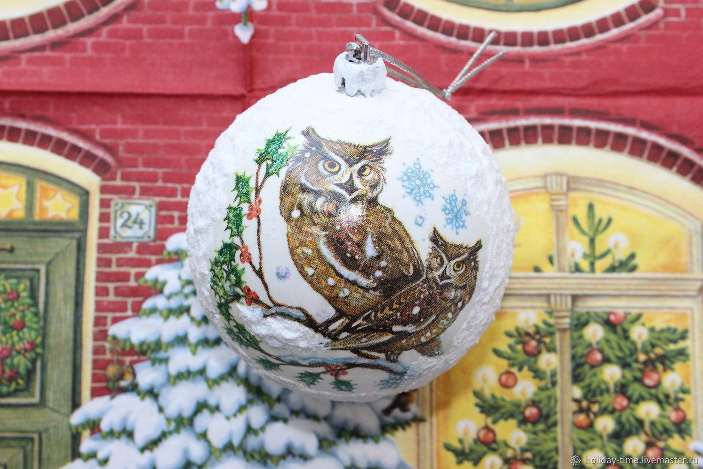 Winter owls, Christmas decorations, Chusovoi,  Фото №1