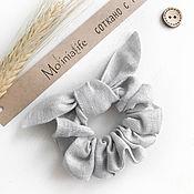 Украшения handmade. Livemaster - original item Fabric volume elastic band for hair, color gray. Handmade.