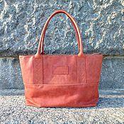Сумки и аксессуары handmade. Livemaster - original item Tote leather bag, shoulder Bag, Terra Nova vacation Bag. Handmade.