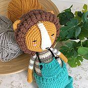 Куклы и игрушки handmade. Livemaster - original item Sleeping Lion Bonik. Knitted toy for children. Handmade.