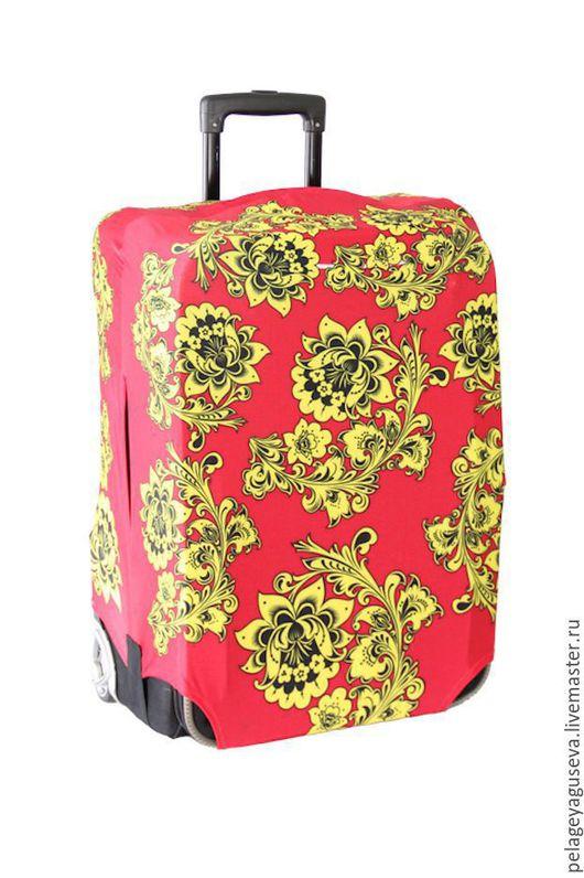 """Чемоданы ручной работы. Ярмарка Мастеров - ручная работа. Купить Чехол на чемодан """"Хохлома"""". Handmade. Чехол, чехол для чемодана"""