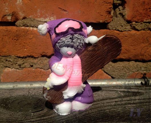 """Мыло ручной работы. Ярмарка Мастеров - ручная работа. Купить Мыло для рук """"Тедди - сноубордист"""". Handmade. Тедди, оригинальный подарок"""