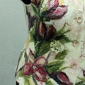 """Одежда ручной работы. Ярмарка Мастеров - ручная работа """"Цветы весны"""" жилет. Handmade."""