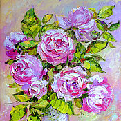 Картины и панно handmade. Livemaster - original item Painting (rose) oil