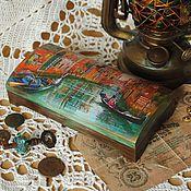 """Для дома и интерьера ручной работы. Ярмарка Мастеров - ручная работа Купюрница """"Венеция"""". Handmade."""