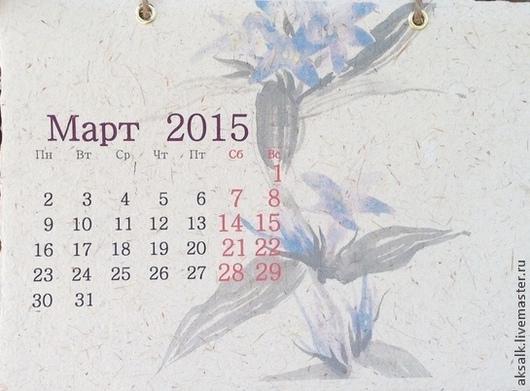 Календари ручной работы. Ярмарка Мастеров - ручная работа. Купить Настольный календарь «Япония»  на 2015 год Авторская ручная  работа. Handmade.