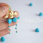 Украшения handmade. Livemaster - original item Earrings with turquoise, gilding