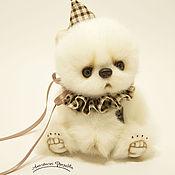 Ромка. Белый мишка Тедди.