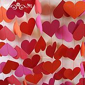 Аксессуары ручной работы. Ярмарка Мастеров - ручная работа Гирлянда из сердечек (цвет любой). Handmade.