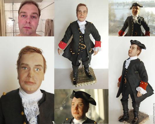 Портретная кукла по фото выполненная под заказ в подарок дорогому мужчине!