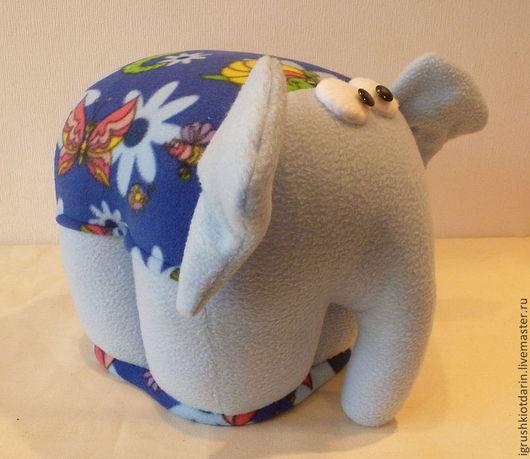 Детская ручной работы. Ярмарка Мастеров - ручная работа. Купить Пуф Слон высота 30 см Флис внутри деревянный каркас. Handmade.