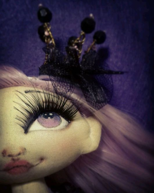 """Коллекционные куклы ручной работы. Ярмарка Мастеров - ручная работа. Купить Кукла текстильная ручной работы """"Принцесса черничная"""". Handmade."""