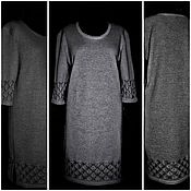 Одежда handmade. Livemaster - original item Linen yarn .Dress SPRING.Connected on the machine brazer. Handmade.