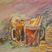 """Картины ручной работы. Ярмарка Мастеров - ручная работа Авторская картина """"Вечерний натюрморт"""". Handmade."""