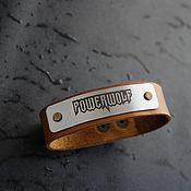 Украшения handmade. Livemaster - original item Bracelet made of genuine leather Powerwolf. Handmade.