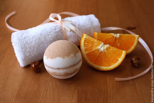 """Бомбы для ванны ручной работы. Ярмарка Мастеров - ручная работа. Купить Сливочные бомбочки """"Пряный апельсин"""".. Handmade. Оранжевый"""