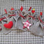 Русский стиль ручной работы. Ярмарка Мастеров - ручная работа Адвент-календарь (льняные мешочки). Handmade.