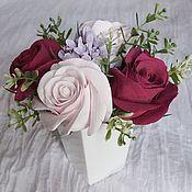 Цветы и флористика handmade. Livemaster - original item Bouquet of roses and lilac 2. Flowers polymer clay handmade.. Handmade.