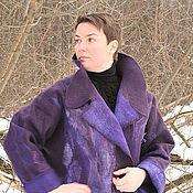 """Одежда ручной работы. Ярмарка Мастеров - ручная работа Пальто """"Черничные грезы"""". Handmade."""